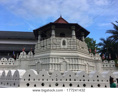 Temple Of The Sacred Tooth Relic That Is Located In The Royal Palace Complex Of The Former Kingdom Of Kandy Sri Lanka