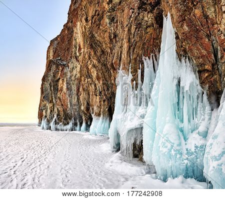 Dawn At Baikal Cape In Early March