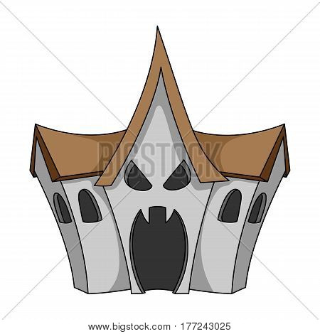 A haunted house, a room of fear in an amusement park. Attraction for the fearless.Amusement park single icon in cartoon style vector symbol stock web illustration.