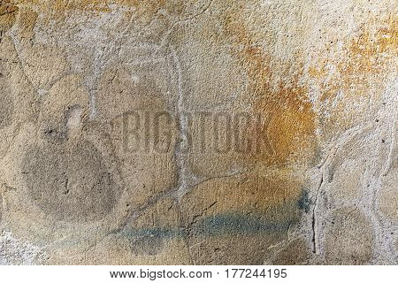 old stained colored wall for backgrounds and compositions