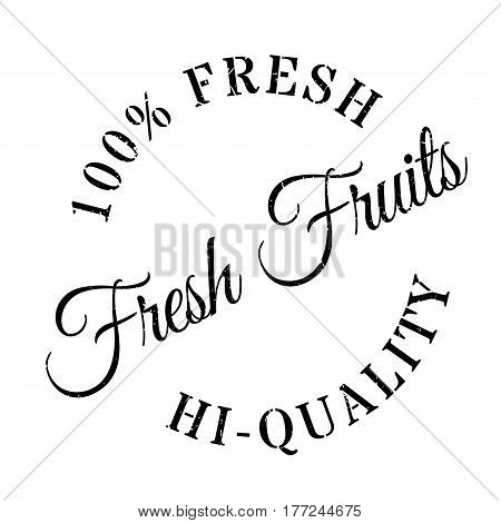 Fresh fruits stamp. Grunge design with dust scratches. Effects can be easily removed for a clean, crisp look. Color is easily changed.
