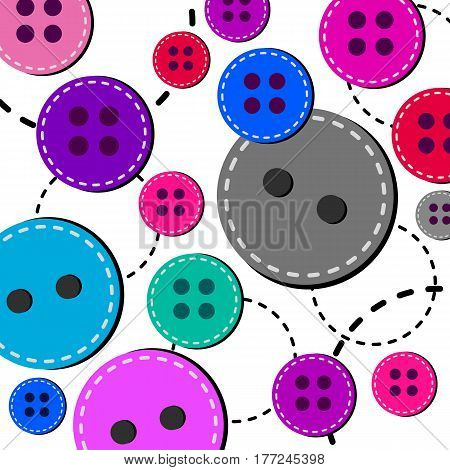 vector fashion button object design sewing tailor textile clothing circle illustration