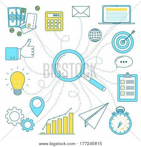 Magnify Business Illustration