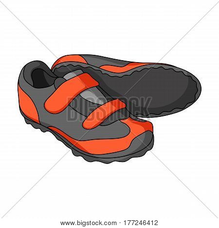 Shoes for cyclists. Special cycling for cycling.Cyclist outfit single icon in cartoon style vector symbol stock web illustration.