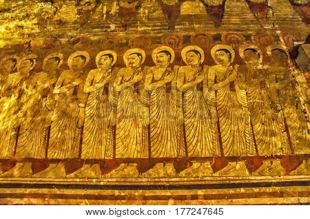 Buddha statue.Buddha image.Temples in Asia.Buddhist monument in Sri Lanka.Golden temple in Dambulla Sri lanka.Buddha in Meditation.Medieval capital of Ceylon.
