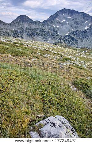 Amazing Landscape of Kamenitsa peak and Tevno Lake, Pirin mountain, Bulgaria