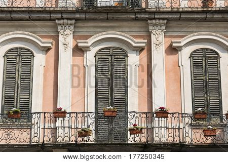 Varese (Lombardy Italy): the historic palace known as Palazzo Estense hosting the town hall