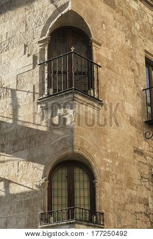 Salamanca (Castilla y Leon Spain): historic building near Plaza Mayor