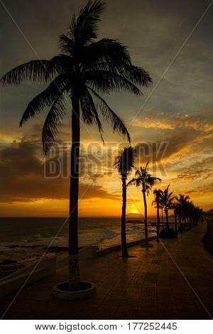 Sunset at the Little Budda beach MuiNe, Vietnam