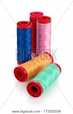 Set Of Colorful Spools.
