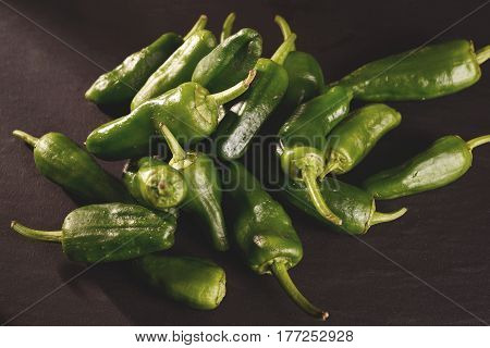 Green Peppers Background - Texture Of Green Pepper, Chili