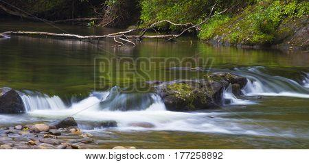 Wilson Creek in North Carolina spilling over some rocks
