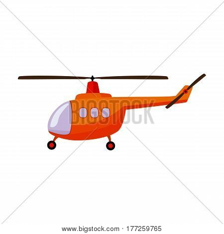 Air transport helicopter. Transport with blades.Transport single icon in cartoon style vector symbol stock web illustration.