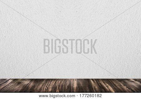 Empty wood table top on pastel color background perspective wood can be used for display or montage your products.