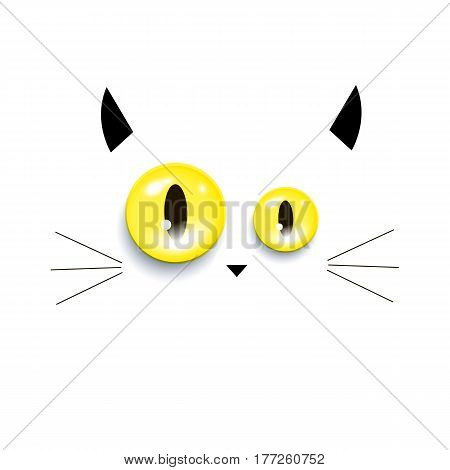 cat kitten vector mustache eyes animal nose