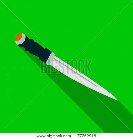 Metal dagger.The national symbol of Scotland the dagger.Scotland single icon in flat style vector symbol stock web illustration.