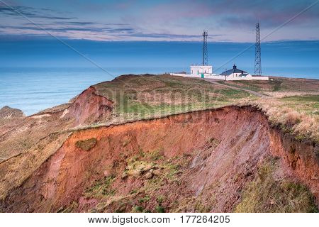 Fog Signal Station on Flamborough Head - Flamborough Head is an eight mile long promontory on the Yorkshire coastline. It is a chalk headland with sheer white cliffs