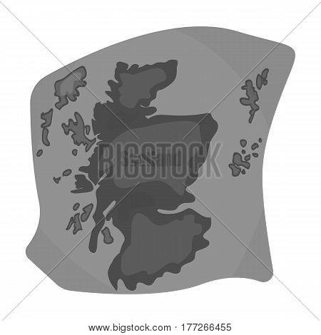 Scotland the map.Scotland is a Country on the world map.Scotland single icon in monochrome style vector symbol stock web illustration.