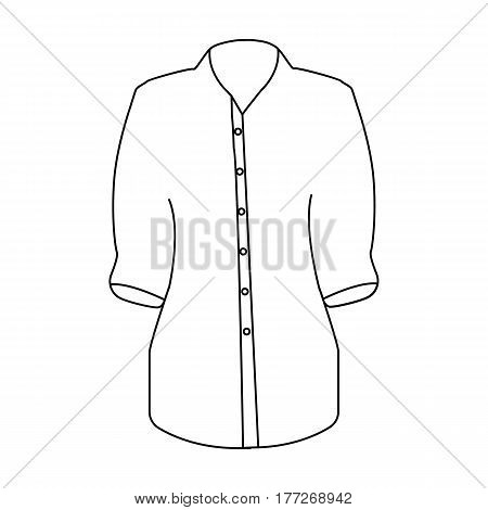 Stylish orange shirt for women. Women dressed in ceremonial clothes.  Woman clothes single icon in outline style vector symbol stock web illustration.