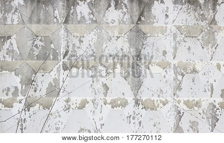 Dirty Grey Concrete Wall  Can Use For Background