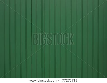 Green Painted Metal Wall Can Use For Background