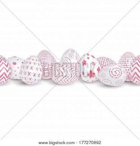 Seamless Easter Border