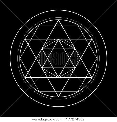 sacred geometry symbol. David star vector illustration
