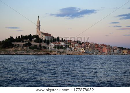 view to the seaside of a croatian city