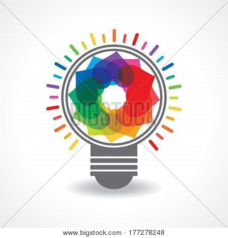 Valentine Day Greeting with bulb of hearts stock vector