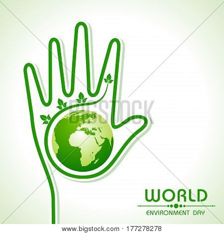 World environment day greeting - save nature concept stock vector