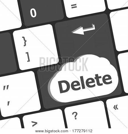 Computer Laptop Keyboard Key Delete, Business Concept