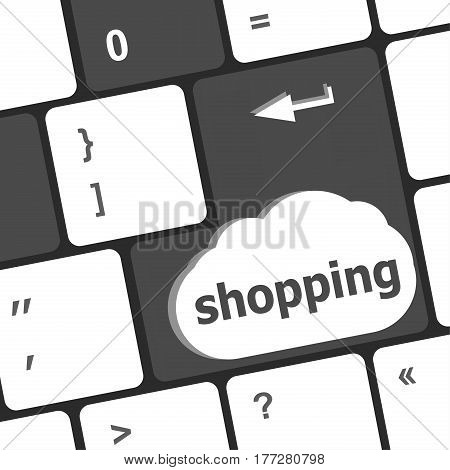 Special Computer Keyboard Key With Shopping Key