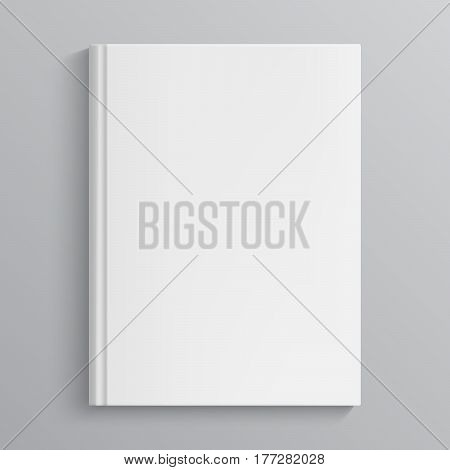 Blank book cover vector illustration. Isolated object
