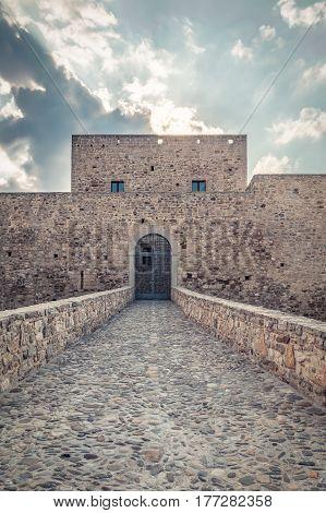 the italian castle of Monteserico in Basilicata