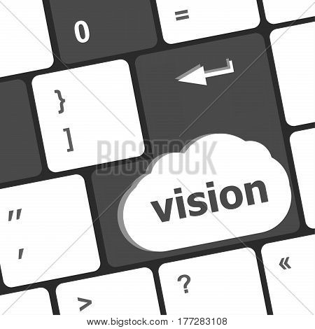 Business Vision Concept With Key On Computer Keyboard