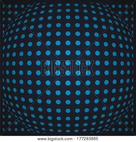 polkadot background with light blue dot and blue dark background