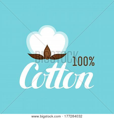 Cotton label. Emblem for clothing and production.