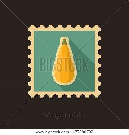 Zucchini flat stamp. Vegetable vector illustration eps 10