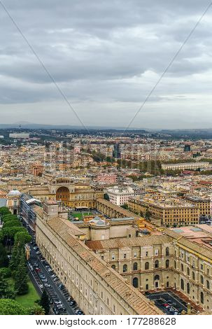 View of Vatican from the Dome of St. Peter's Basilica