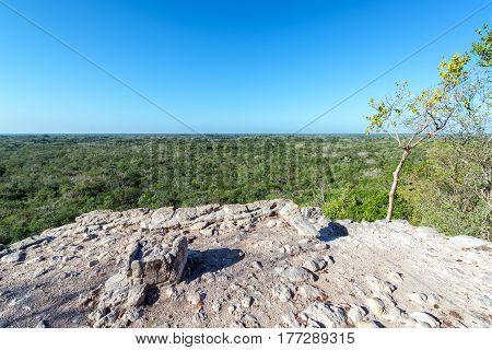 Top Of Mayan Pyramid