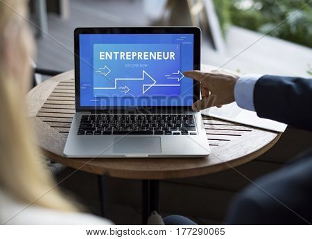 Business Strategy Management Entrepreneur Illustration
