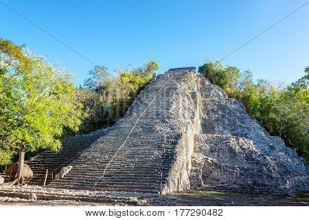 Pyramid Of Coba, Mexico