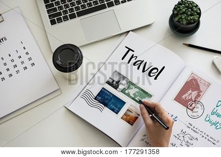 Planning traveling trip notes wanderkust