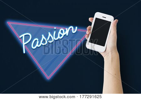 Passion Attraction Emotion Word Graphic