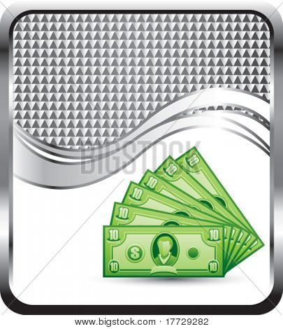 dollar bills silver checkered wave