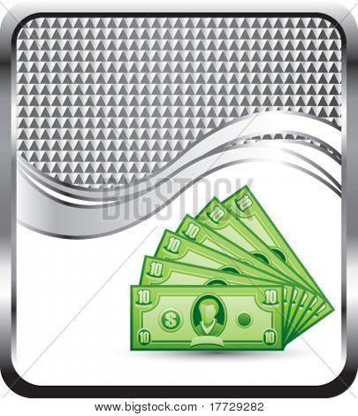 dollar bills silver checkered wave