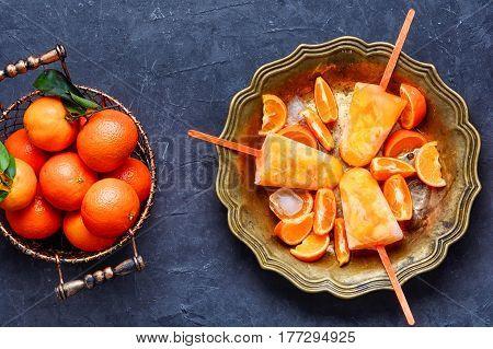 Ice Cream With Mandarin