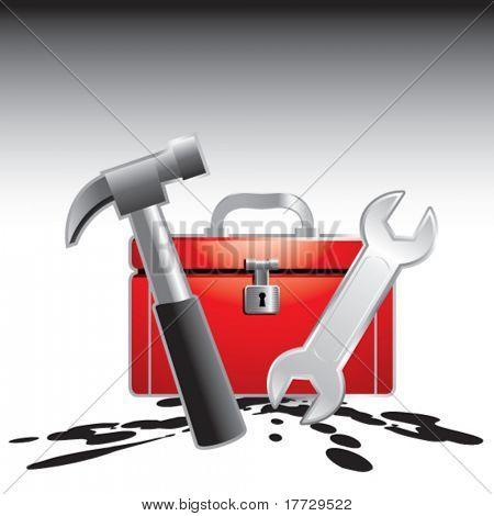 toolbox splattered