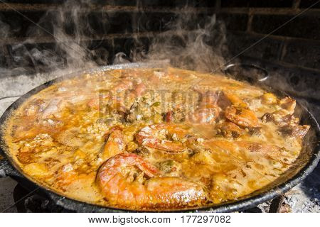 Typical And Traditional Spanish Paella
