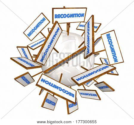 Recognition Signs Appreciation Word Sphere 3d Animation